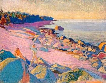 Magnus Enckell (1870-1925). Boys on the shore, 1910 oil, 78x101cm