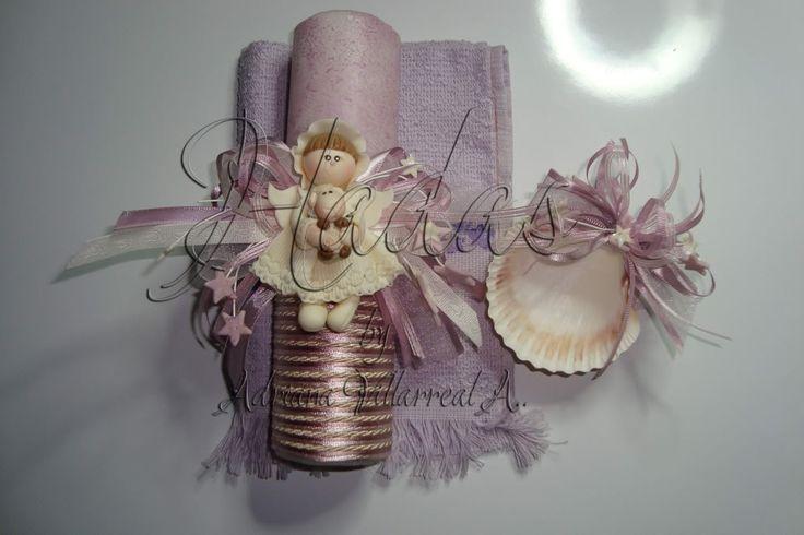 Recuerdos de mesa con velas para bautizo car interior design for Decoracion de velas para bautizo