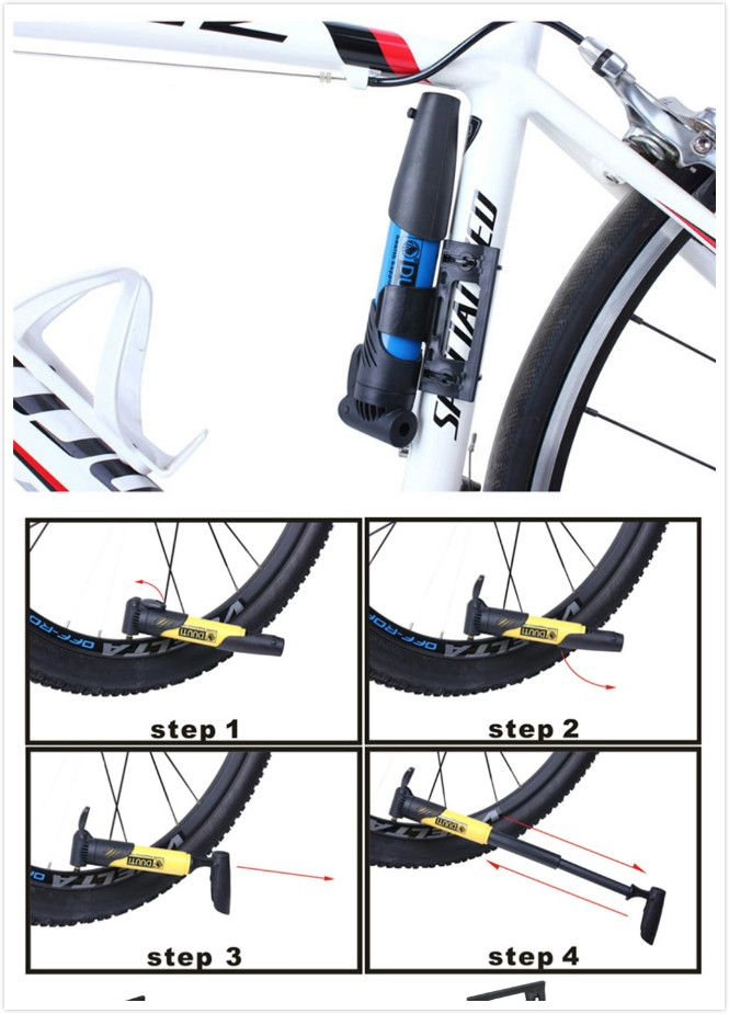 Portable Mountain Bike Bicycle Air Pumps Pocket Bikespart Cycling