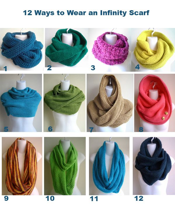 12-ways-to-wear-an-infinity-scarf (and more) at http://boomerinas.com/2013/11/11/how-to-wear-an-infinity-scarf-12-ways-women-over-40-50-60/