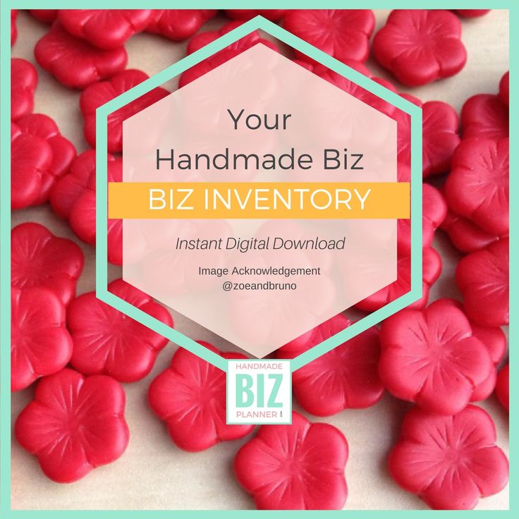 A Handmade Business Inventory worksheet to help you record your material purchases.
