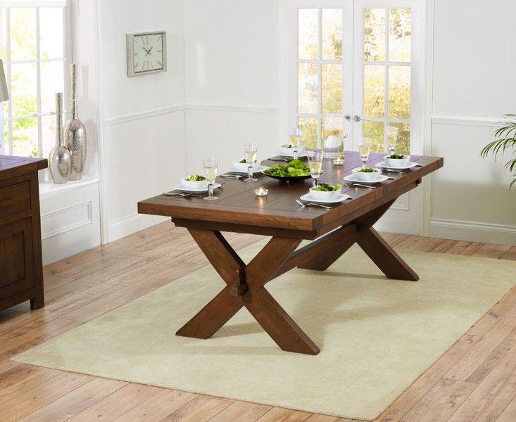 Buy the Bordeaux 200cm Dark Oak Extending Dining Table at Oak Furniture Superstore
