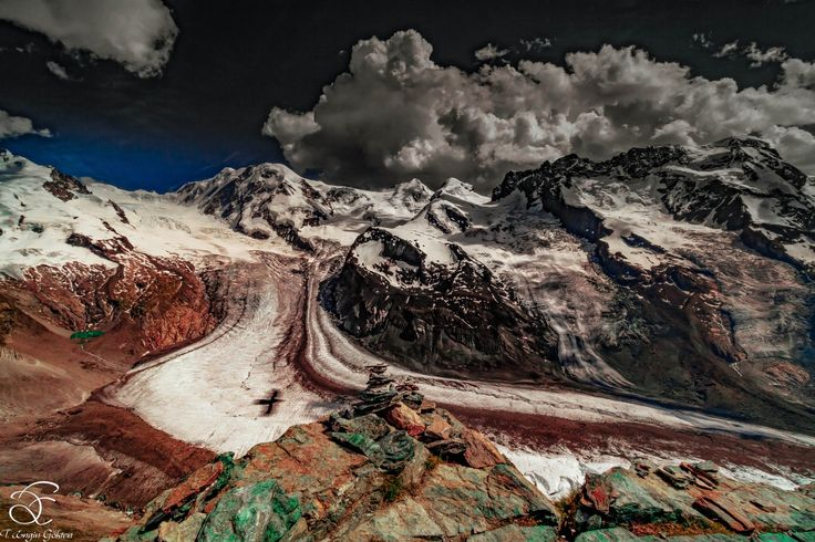 "At the Top - <a href=""https://www.instagram.com/benowmehere/"">|INSTAGRAM|</a> <a href=""https://www.facebook.com/engin.gokten"">|FACEBOOK|</a>  Who is at the top? You or this eagle coloring the Rocky Mountains for peace?  Sen mi yoksa barış için dağları boyayan bu kartal mi zirvede?   BeNowMeHere, Gornergrat, Switzerland, 2015"