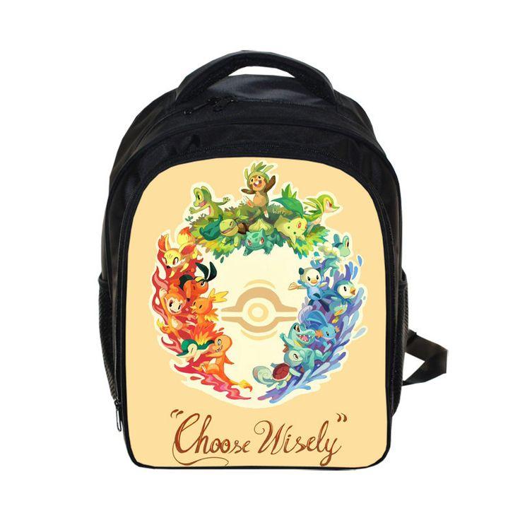 Anime Pokemon GO Kindergarten Backpack Pikachu Children School Bags Boys Girls School Backpacks PokeBall Schoolbags Kids Bag