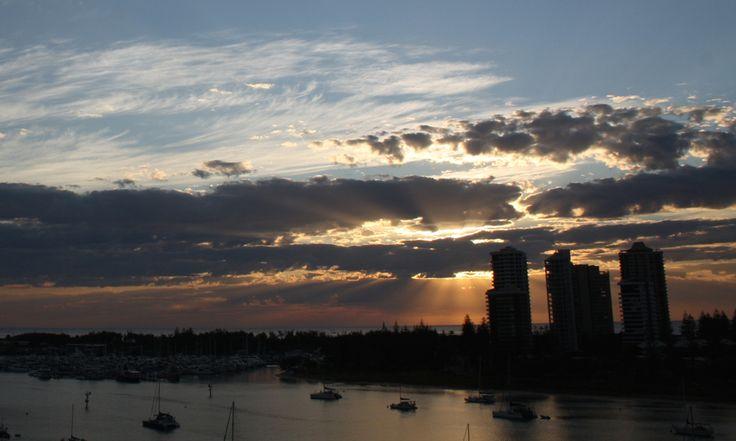 A Sunrise over Main Beach, Australia