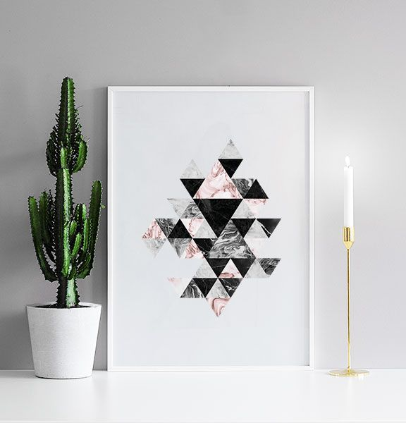 Triangle pattern, poster in the group Posters  / Sizes / 50x70cm | 20x28