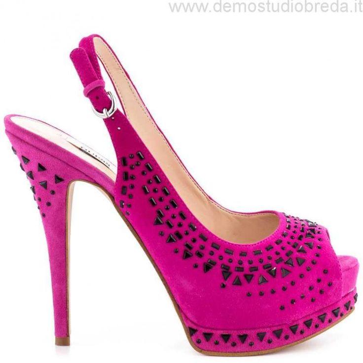 Donne Guess Footwear Gowan - Dk Rosa Suede Tacchi Alti Scarpe Taglia:36,37,38,39,40