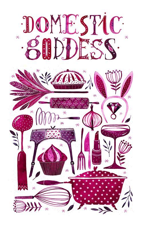 Colorhood - Domestic Goddess by Madalina Andronic