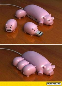 Piggy USB Hub #cute