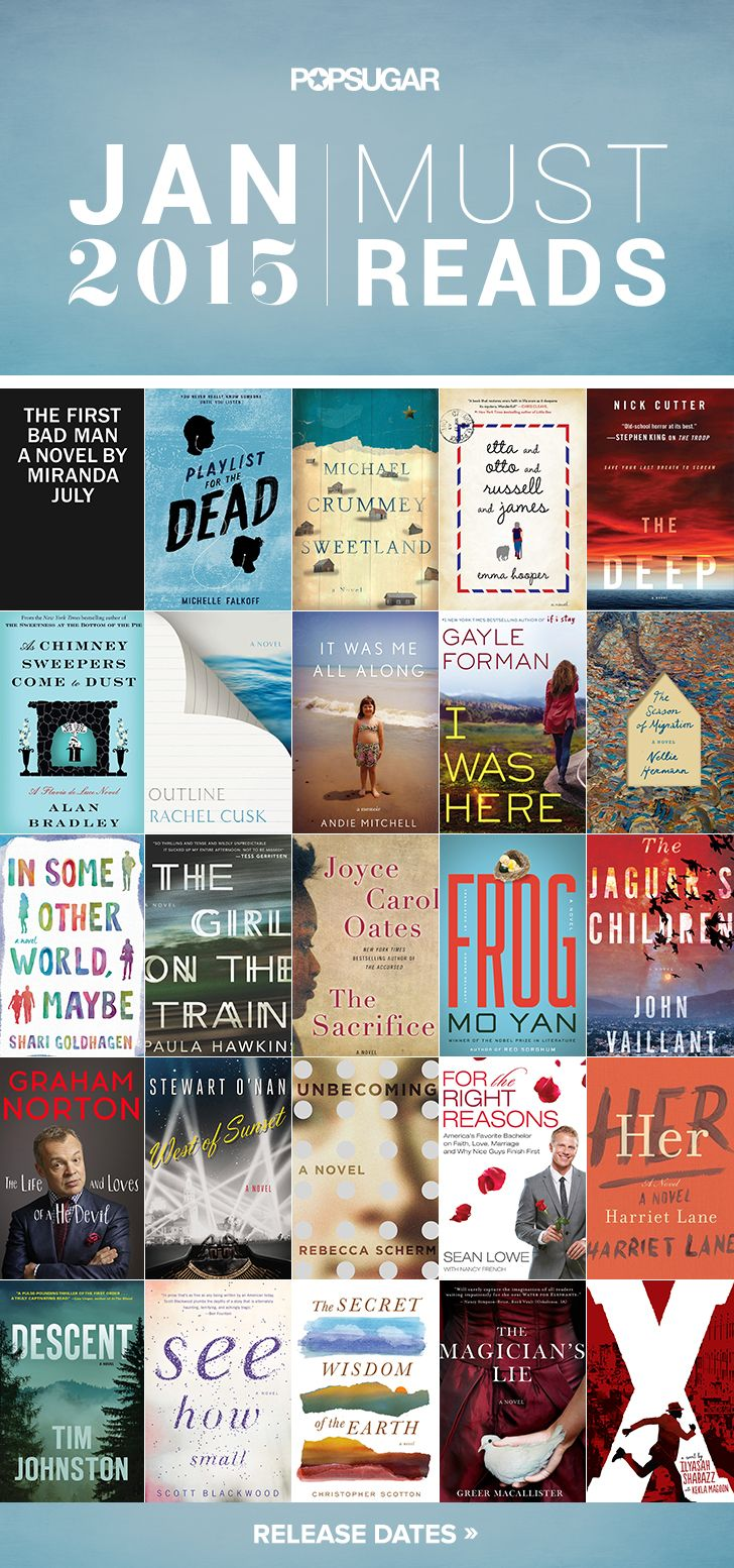 Must-read books hitting shelves in January 2015 by Popsugar. #readinglist Repinned by https://scatterbooker.wordpress.com/