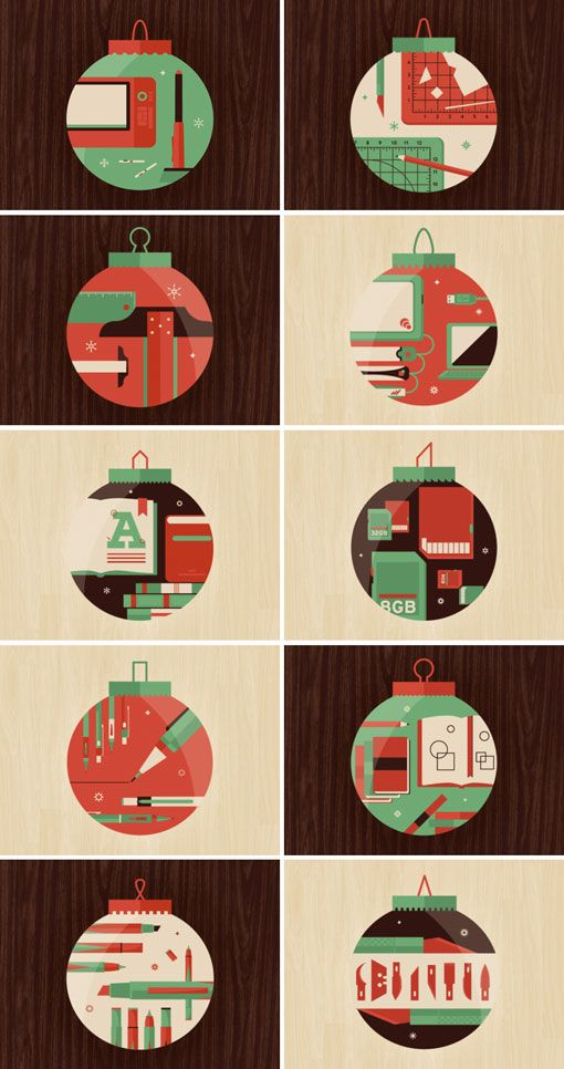 Design Work Life - Dominic Flask & Rory Harms's 12 days of christmas: Christmas Cards, Wandersky Illustrations, Xmas Illustrations, Christmas Cheer, Christmas Illustrations, Illustrations Projects, 12Daysofchristmas Jpg 510 966, Domination Flasks, Rory Harm