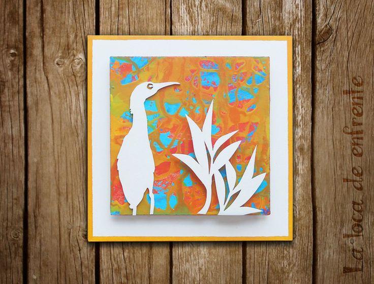 """serie """"birds and floral"""" :: ORANGE:: La loca de enfrente"""