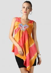 TRE Batik  TRE Batik Blouse Batik Butterfly Orange