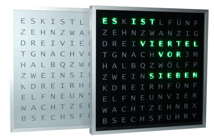 """Ulrich Radig hat unsere Bilderrahmen einmal ganz anders verwendet und eine """"Word Clock"""" nachgebaut sowie eine Do-It-Your-Self Anleitung zur Verfügung gestellt, wie man sich eine solche Uhr nachbauen kann. Toll ist: Die Uhr zeigt die..."""