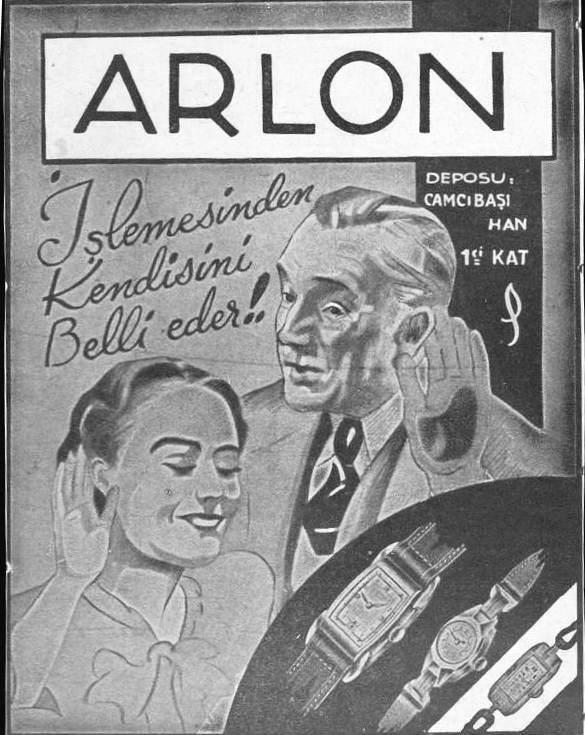 1930lu yıllar Arlon saatleri