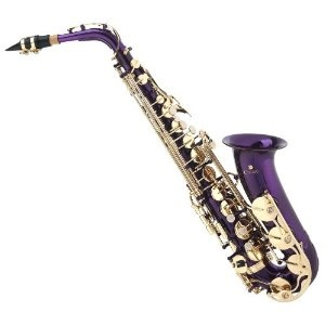 Cecilio 2Series AS-280PL Purple Lacquer Eb Alto Saxophone + Mouthpiece, Case, 10 Reeds, & Accessories