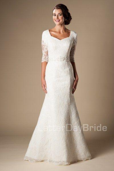 Modest wedding dress lds bridal gown latterdaybride for Wedding dresses in utah
