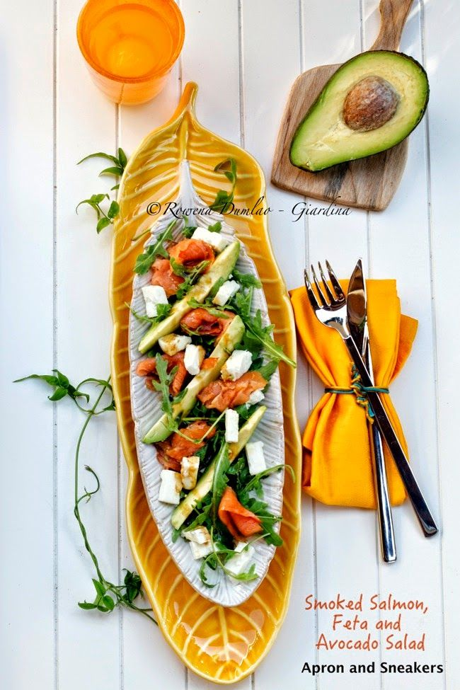 Apron and Sneakers - Cooking & Traveling in Italy and Beyond: Smoked Salmon, Feta and Avocado Salad