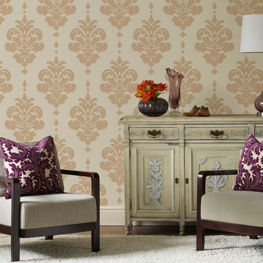 Bestow A Finished Look To Any Room In Your Home By Hanging This Affordably  Priced Graham U0026 Brown Gold And Neutral Olana Wallpaper. Part 62