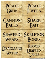 Pirate printables (menus, invitations, etc.)