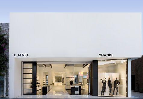 Chanel Store LA, simple architecture, clean lines