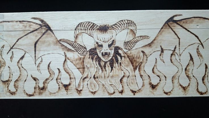 Tolkien pyrography box