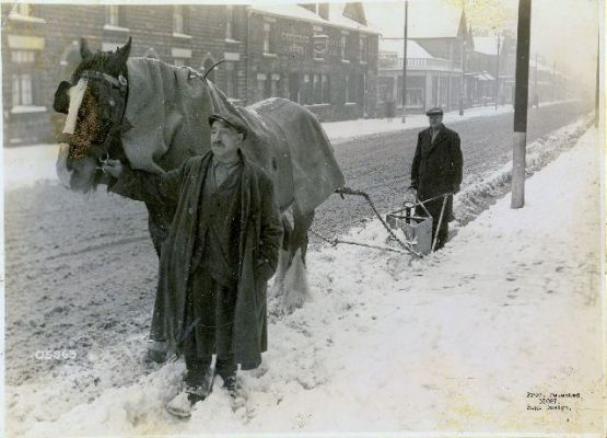 (THE HALLIWELL SNOWPLOUGH) Clearing the snow on Halliwell