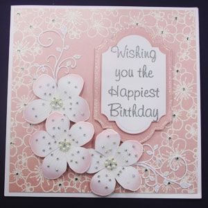 Embossed Cherry Blossom -  Chloes creative cards