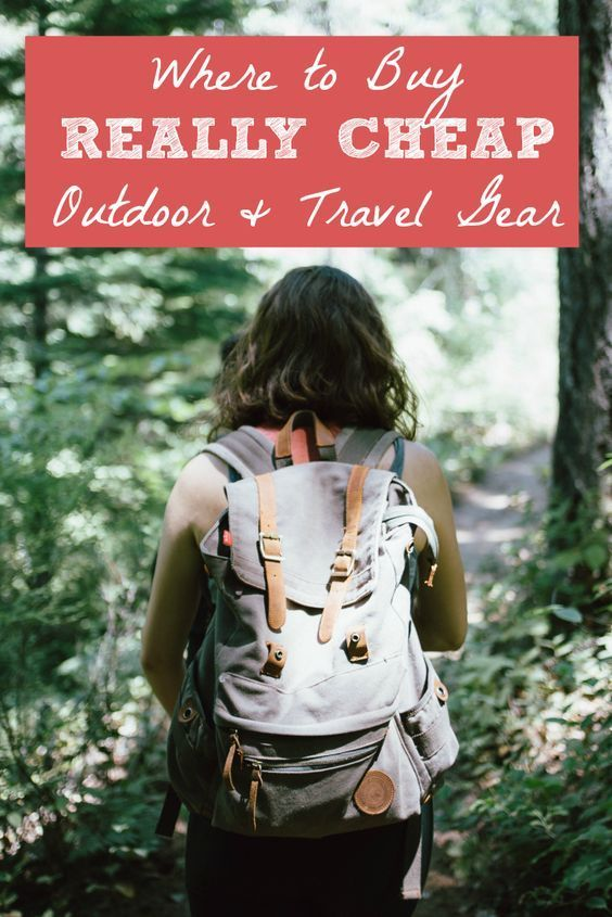 Where to buy really cheap outdoor + travel gear! Pin this post to save money on everything on your packing list. Find backpacking & travel gear, outdoor, athletic, sports, and camping gear.