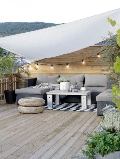 Gartenmobel Set Modern :  Archive » 50 Peaceful And Relaxing Scandinavian Terrace Decor Ideas