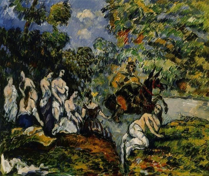 Legendary Scene, 1878 by Paul Cezanne, Impressionist period. Impressionism. genre painting. Private Collection