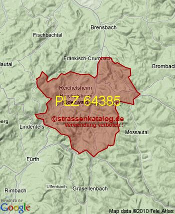 Postleitzahl 64385