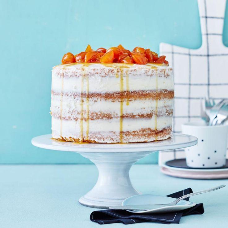 Rezept: Half-Naked-Cake mit Kumquatkompott von Zucker, Zimt & Liebe