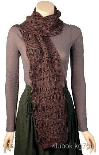 Вязаный шарф Wedge. | Клубок