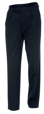 Miesten housut, C-tyyppi. C-mitoitus. Kestävät ja mukavat miesten housut. Toimivat yksityiskohdat: vyönlenkit, sivutaskut, takatasku nappikiinnityksellä, polvisilkit.