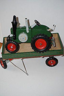 Traktor mit Hänger - Firma Berger -  Spielzeug DDR