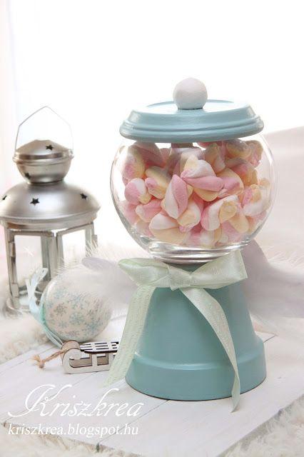 DIY: Cukorka és édesség tartó gömb /gumball machine