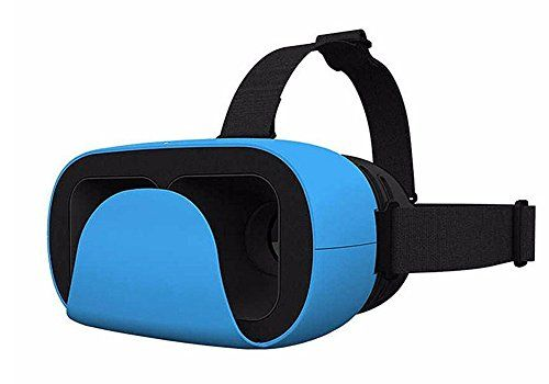 Uniify Verge Lite VR Headset UV005: 3D Virtual Reality Headset Glasses for iPhone 6/Plus Galaxy S7 Note 6 Compatible with Google Cardboard and Daydream Blue