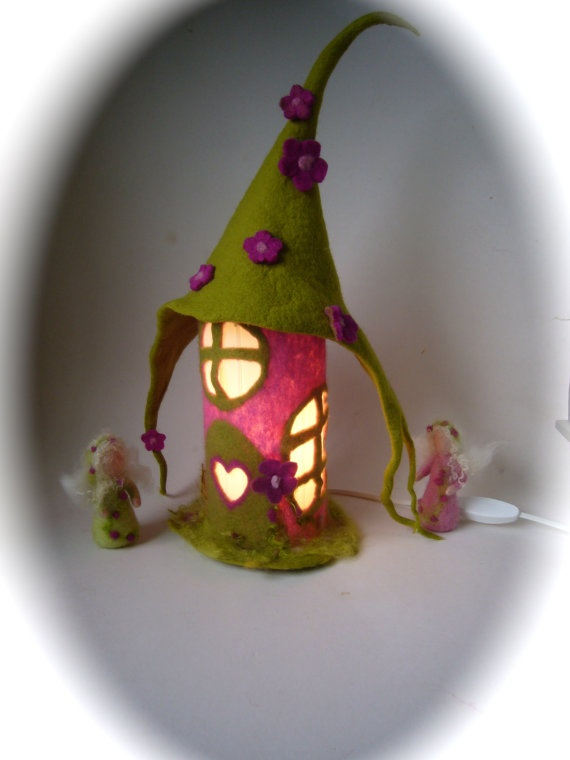 Table Lamp cover . Wet Felted.Night light by FilzArts on Etsy, $59.00