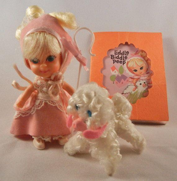 Little Kiddle Storybook - Liddle Kiddle Liddle Biddle Peep doll 1968 by Mattel vintage Kiddle doll 3544