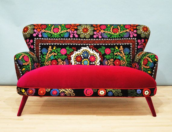 Patchwork sofa with Suzani fabrics  4 by namedesignstudio on Etsy, $2000.00
