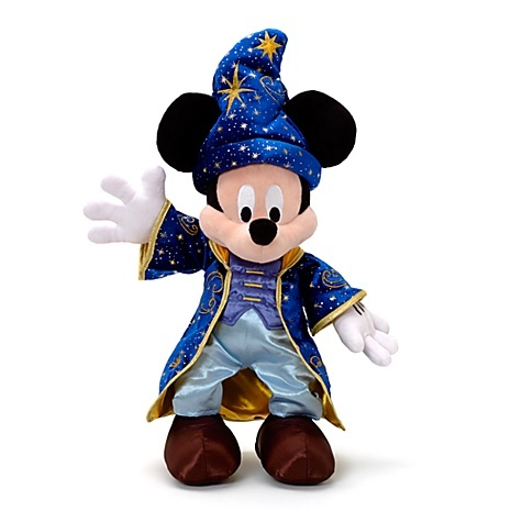 peluche mickey magicien - disneyland paris 20 ans - disney