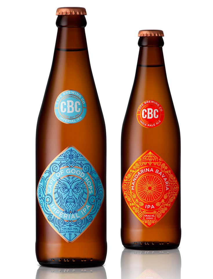 Cape Brewing Co. Designed by MUTI Label illustrations for Cape Brewing Company, a South African producer of craft beer.