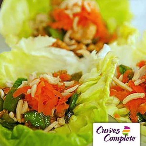 Dinner ideas make us very happy. These chicken lettuce wraps are light and filling, plus they're part of the Curves Complete plan!