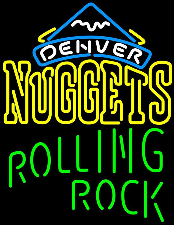 Rolling Rock Single Line Logo Denver Nuggets NBA Neon Beer Sign, Rolling Rock with NBA Neon Signs | Beer with Sports Signs. Makes a great gift. High impact, eye catching, real glass tube neon sign. In stock. Ships in 5 days or less. Brand New Indoor Neon Sign. Neon Tube thickness is 9MM. All Neon Signs have 1 year warranty and 0% breakage guarantee.