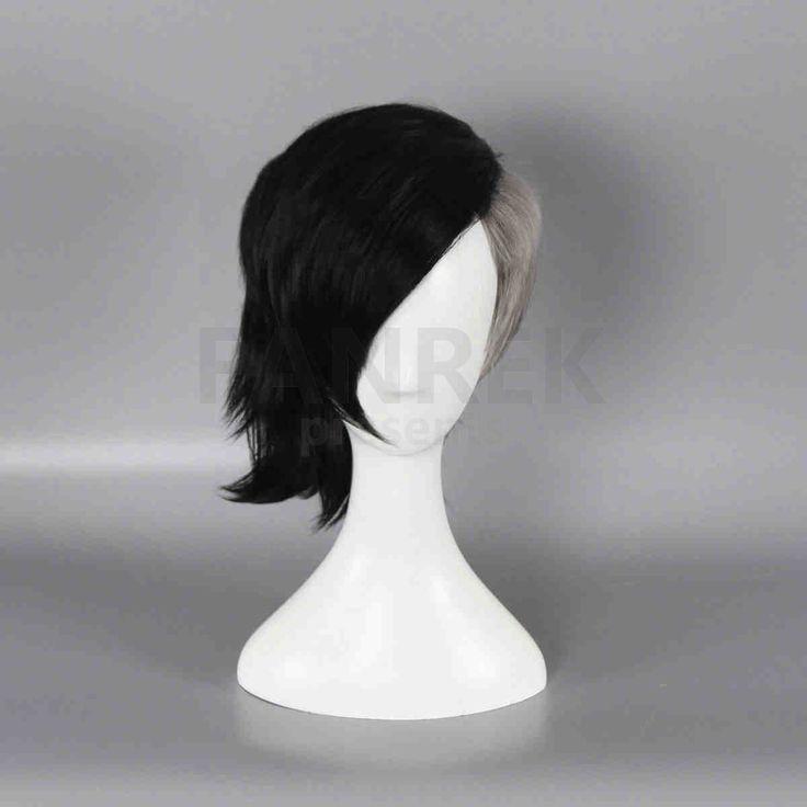 Tokyo Ghoul Cosplay Uta Halloween Wigs White Black Hair
