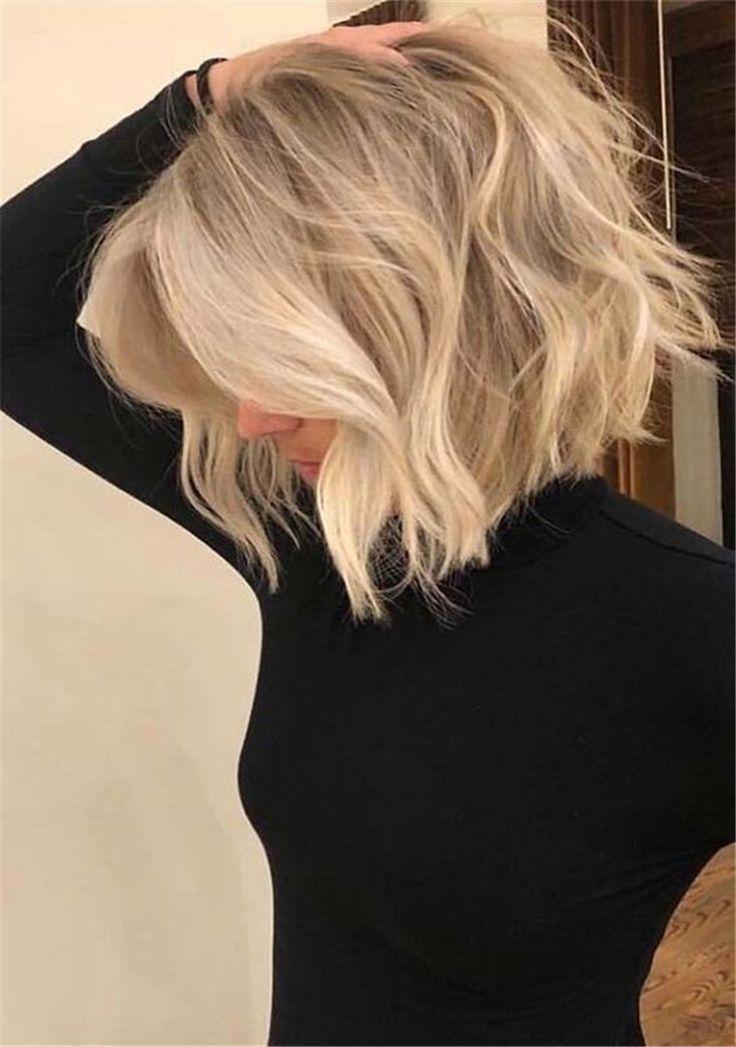 Uber 60 Trendige Und Schicke Bob Frisuren Fur Frauen Im Jahr 2019 Seite 38 Von 62 Bobfrisuren In 2020 Messy Short Hair Thick Hair Styles Bob Hairstyles For Fine Hair