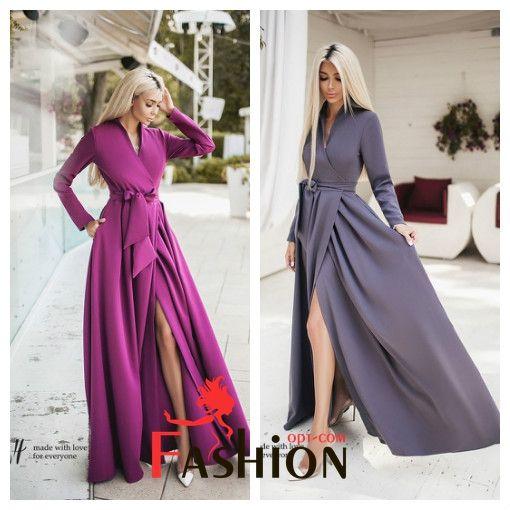 2️⃣3️⃣1️⃣0️⃣руб Платье на запах макси TM B&H №0181 Размер: XS; M; L Производитель: Secret Ткань: Креп Цвета: голубой, серый, розовый, фуксия, хаки