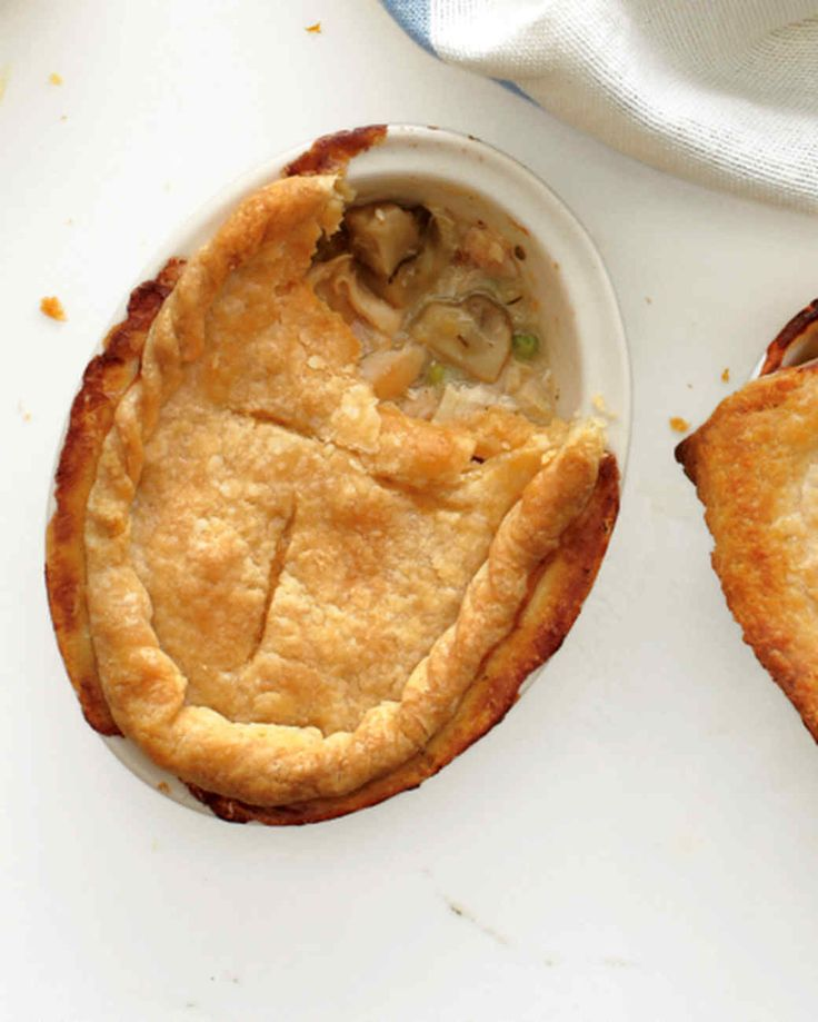 Button mushrooms join the chicken in the rich filling of this variation on our Classic Chicken Potpie.
