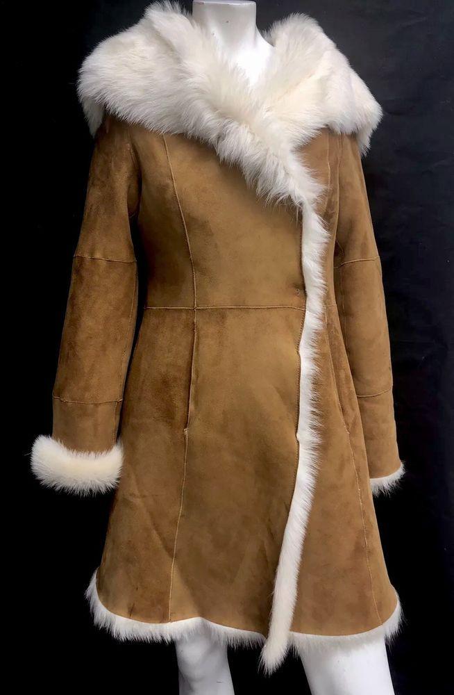 ae66bd00ef Ugg Australia Vanesa Toscana Shearling Coat 1017644 Jacket Chestnut size XS   UGGAustralia  LongToscanaShearlingSheepskin